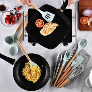 Silicone Kitchen Cooking Utensils Tools Set